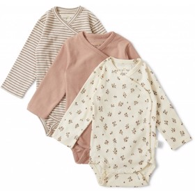 Nuevo New born Body 3-Pak girl Petit amour/striped/blush - Konges Sløjd