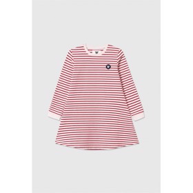 Aya dress off-white/red stripes - Wood Wood