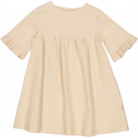 Kjole Elena taffy stripe - Wheat