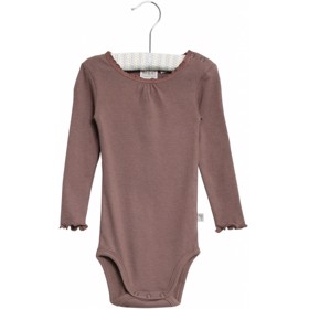 Body Rib Lace LS powder plum - Wheat