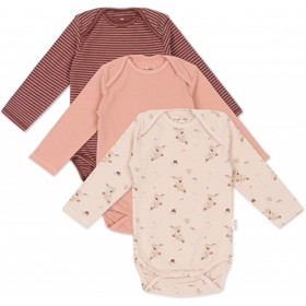 Cue Body 3-Pak girl Nostalgie/striped/blush - Konges Sløjd