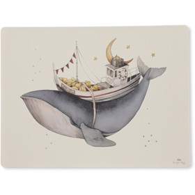 Placemat silicone Whale - Konges Sløjd