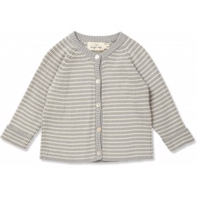 Meo Cardigan POWDER BLUE/OFF WHITE - Konges Sløjd