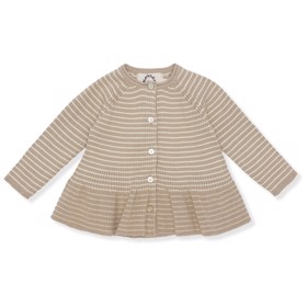 Meo Frill Cardigan MOONLIGHT/OFF WHITE - Konges Sløjd