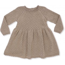 Ballerina Dress cotton Brown Melange - Konges Sløjd
