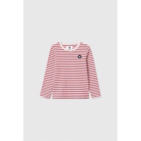 Kim kids long sleeve off-white/red stripes - Wood Wood