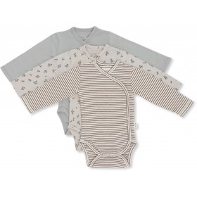 Nuevo New born Body 3-Pak girl Petit amour/striped/blue - Konges Sløjd