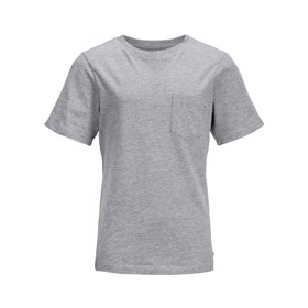 O-neck t-shirt grey melange - Jack & Jones junior