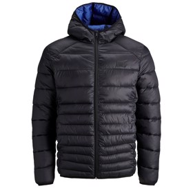 Jakke JJebomb puffer hood navy - Jack & Jones jr