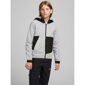 JCOARCHUR Sweat hoodie, Light Grey Melange - Jack & Jones JR