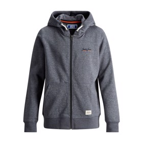 Jortons Zip Hoodie, Navy Blazer Melange - Jack & Jones Junior