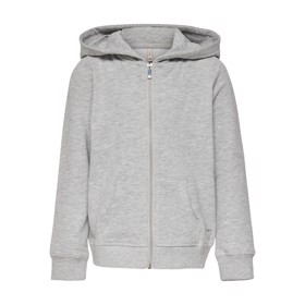 Zip Hoodie Light Grey Melange - Kids Only