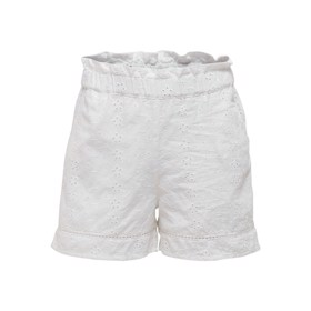 Paperbag shorts Broderie Anglaise hvid - Kids Only
