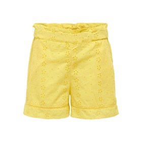 Paperbag shorts Broderie Anglaise gul - Kids Only