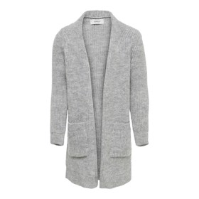 Cardigan I strik Grå/Light Grey Melange - Kids Only