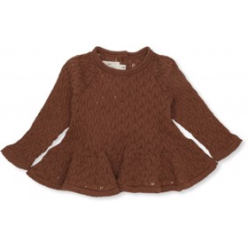 Fortun Frill wool pointelle Toffee - Konges Sløjd
