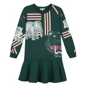 Gretchen dress dark green - Kenzo