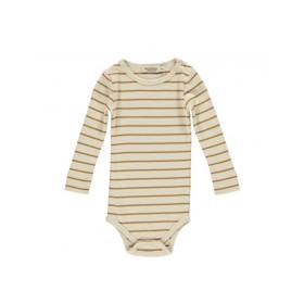 Langærmet Body Pumpkin Pie Stripe - MarMar