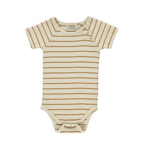 Kortærmet Body Bo Pumpkin Pie Stripe - MarMar