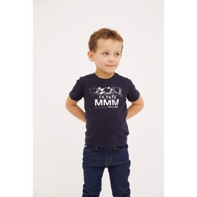Ola kids T-shirt med Mickey Mouse, navy - Wood Wood x Disney