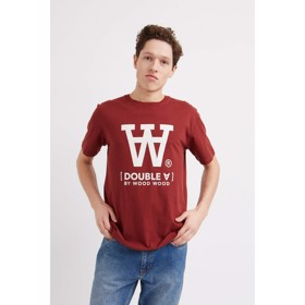 Ace T-shirt Double A Dark red - Wood Wood