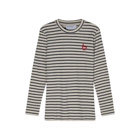 Joan Logo Tee navy stripes  - Designers Remix girls