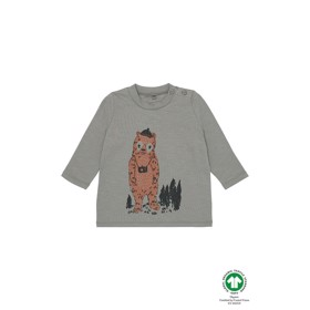 Baby Geo T-shirt Vetiver Adventurebear - Soft Gallery