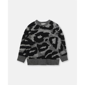 Camo intarsia bouclé sweater - Stella McCartney