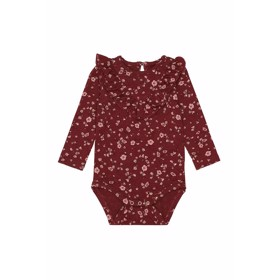 Annie Body Oxblood Red Flowery  - Soft Gallery