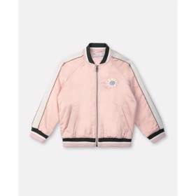 Flower Satin Bomber Jacket - Stella McCartney
