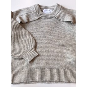 Silvia Panel Sweater Light Grey Melange - Designers Remix girls