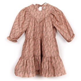 Frill Dress Cotton Flower Rose - Huttelihut