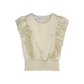 Lauren Smock Top Cream - Designers Remix girls