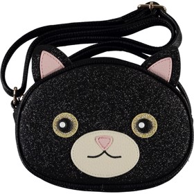 Børnetaske Cat Bag Black Glitter - Molo