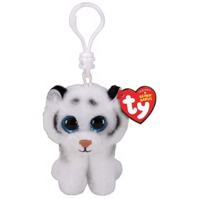 Nøglering Beanie Boos TUNDRA white tiger clip - TY