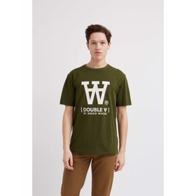 Ace T-shirt Double A Dark Army green - Wood Wood
