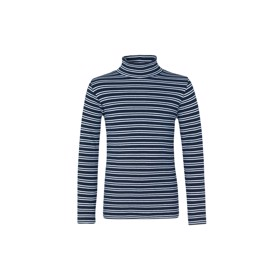 Rullekrave Duo Stripe Tuxi, Navy/White - Mads Nørgaard