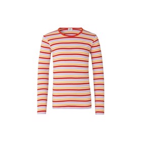 Bluse 2X2 Softy Stripe Talino, Multi Red - Mads Nørgaard