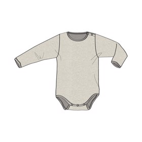 Body Plain Wool LS navy - Wheat