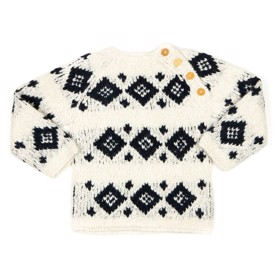 Haremis Sweater off white w. Navy - Huttelihut