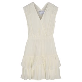Eliza Ruffle Dress Cream - Designers Remix girls