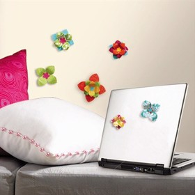3D Wall Paper Flowers - RoomMates