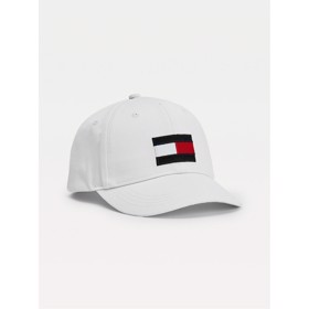 Big Flag patch baseball Cap Hvid - Tommy Hilfiger