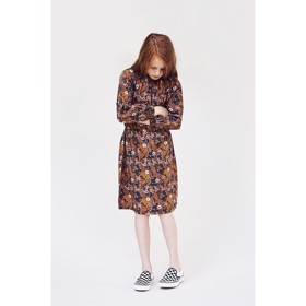 Diviana Dress Tomato Cream Print - A MONDAY