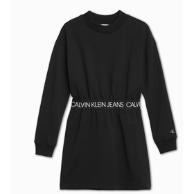 Logo waistband LS dress sort - Calvin Klein