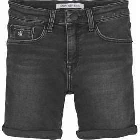 Boys Slim Durable denim shorts black - Calvin Klein