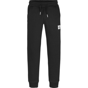 Recycled cotton blend badge joggers sort  - Calvin Klein