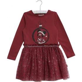Disney Jersey Kjole Minnie Mouse Jul burgundy - Wheat