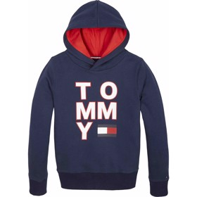 Multi AW graphic Hoody Black Iris - Tommy Hilfiger