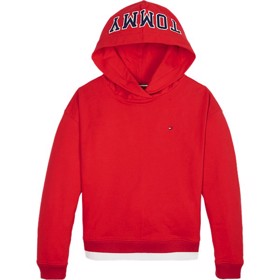 Girls Iconic logo hoodie red - Tommy Hilfiger